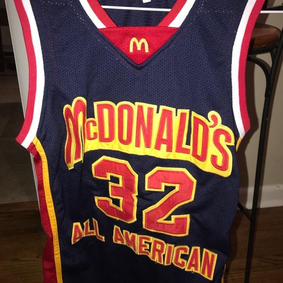 the best attitude f38de 024ef LeBron James McDonalds All-American Jersey Small